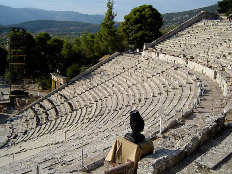Clay Paky on Phèdre in Epidaurus, Greece « Stage Directions