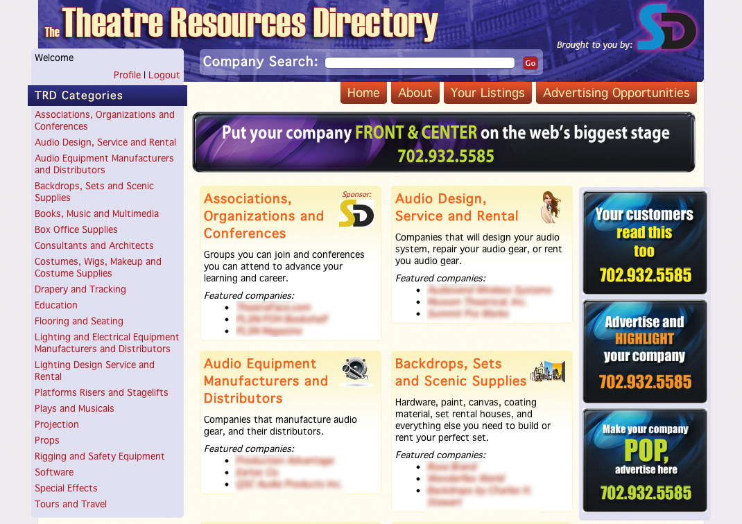The Theatre Resources Directory from Stage Directions is now available online.