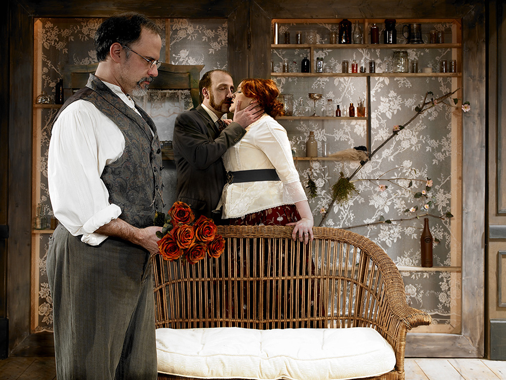 Tom Burch used scrim on a production of Uncle Vanya and the audience watched the play through the boxes of lace scrim.