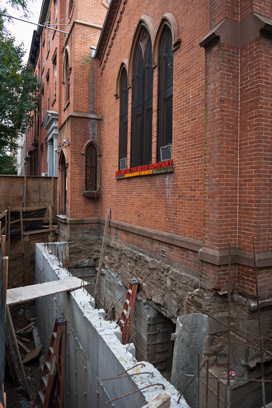 To gain more space for the Linda Gross Theater, the Atlantic excavated down, gaining a whole new level.