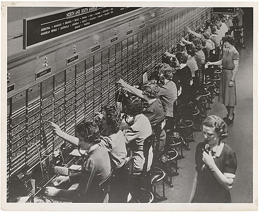 Bell System Switchboard; Photo: US Navy